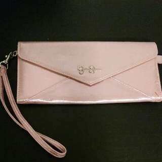 Jessica Simpson shiny pink  clutch