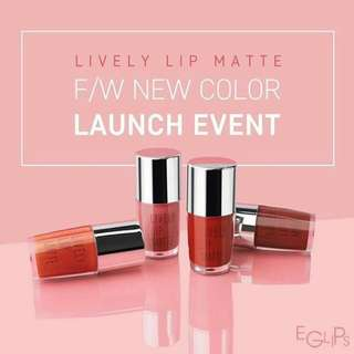 NEWLY RELEASED!!! Eglips Lively Lip Matte is hereeee 😍✨   All lippies are all smooth matte finished! ❤️ Message me for the price, place your orders now ☺️