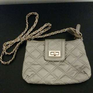 NEW ardene silver crossbody purse