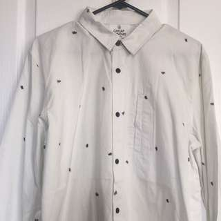 BNWT Cheap Monday Long-Sleeve Button-Up Size M