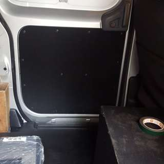 Van Rear Board Leather Wrapping