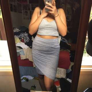 ruched skirt