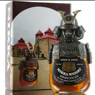 有單正貨 日本Nikka限量版 武士威士忌 whisky gold & gold samurai 750ml