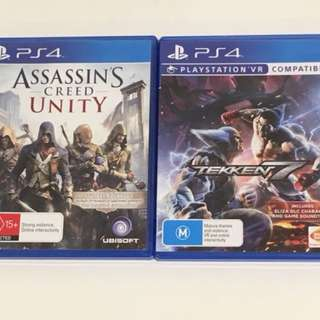 Tekken 7 and Assassin's Creed Unity Ps4