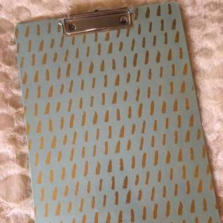Clipboard (Teal with Gold)