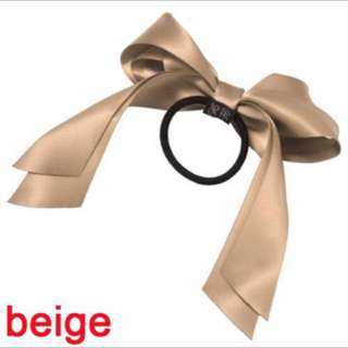 Beige bow hairbands
