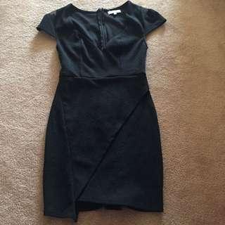 Mink size 6 asymmetrical dress