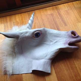 Rubber unicorn mask