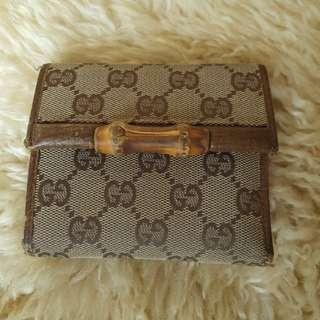 Gucci Short Bamboo Wallet