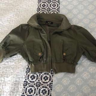 Crop jacket ice size L