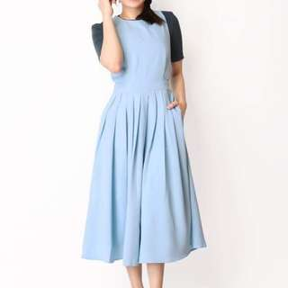 AFA Xanthe Pinafore Dress in sky