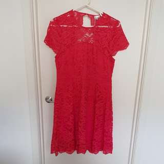 Tokito Raspberry Lace dress Size 16