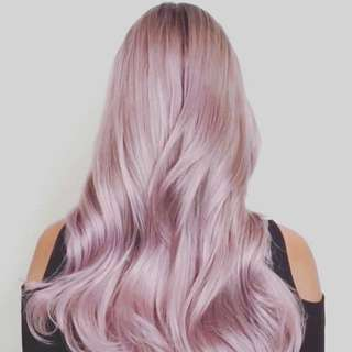 NEW IN UNOPENED PACKS - SALON QUALITY 9A GRADE FULL EUROPEAN HUMAN HAIR - SOFT LILAC MIX 1