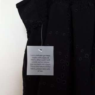 Black floral patterned summer shorts size 18