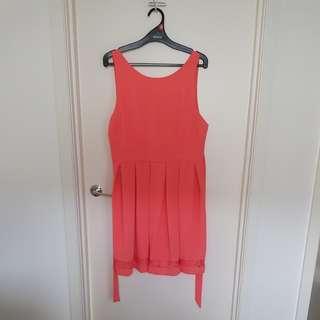 Tokito salmon coloured dress size 16