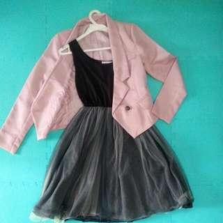 連身紗裙和粉色西裝外套 #交換最划算 #含運最划算