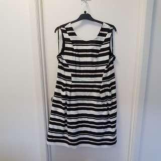 Tokito striped dress size 16