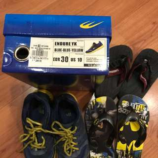 Bundle sale! World Balance Rubber shoes with free unused slippers