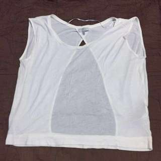 Zara backless tshirt