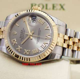 Brand New ROLEX Oyster Perpetual Datejust Steel and Gold 31MM Lady Automatic Watch. Swiss made. Ref model : 178273