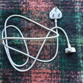 Apple Mac wire 3 pin plug UK standard