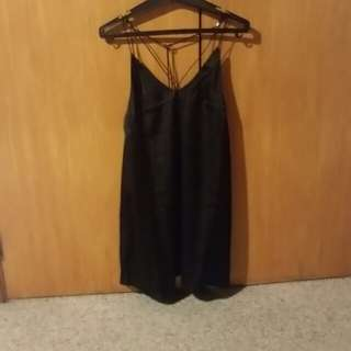 Black silky dress size 6