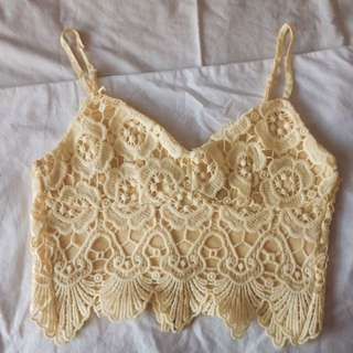 🌹 VallyGirl yellow croptop
