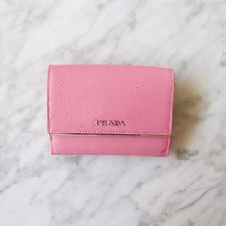 Prada compact wallet in Saffiano leather