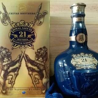 (舊裝/藍色)芝華士皇家禮炮Royal Salute, 700ml