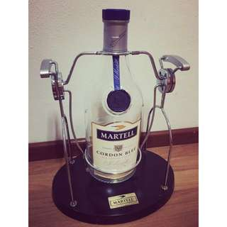 Martell Cordon Bleu 3 Litre Empty Bottle With Cradle