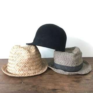 H&M paper straw hat wool hat panama not zara topshop celine margiela kenzo sacai 草帽絨帽