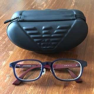 Emporio Armani 寶藍色眼鏡