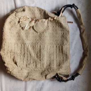 Large Hobo Bag in Nude