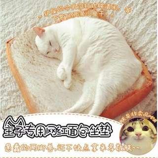 【爆款】療癒系仿真吐司抱枕貓咪坐墊