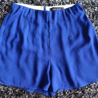 Cobalt Blue High Waisted Shorts