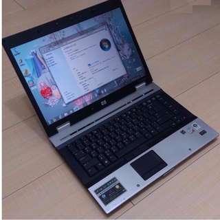 🚚 14.1吋 銀色亮面 鋁鎂合金外殼 HP 6930P 雙核心 / 獨顯 筆電 Notebook / Laptop !!