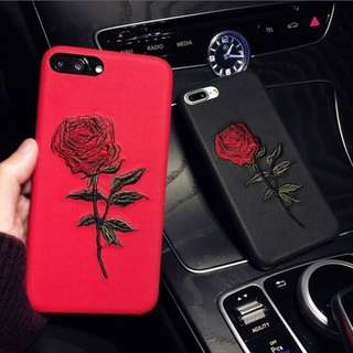 🍁Rose Embroidered Phone Case