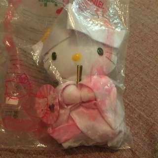 全新 Hello Kitty日本 婚禮 和服 娃娃玩偶