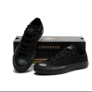 Converse 全黑 低筒