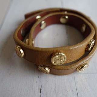 Tory Burch Brown Double Wrap Bracelet