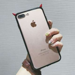 IPhone X devil red horns casing in-stock