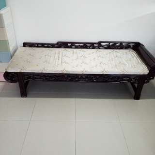 Antique Shanghai Rosewood Day Bed