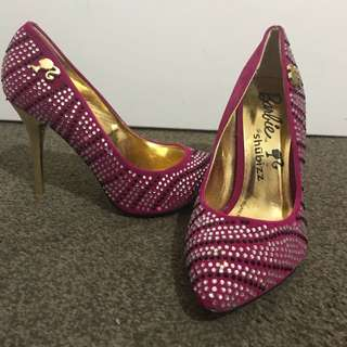 *NEW* Barbie Fuchsia High Heels shoes size 38