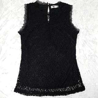 Lacy Black Sleeveless Top
