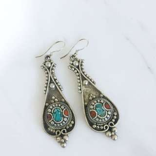 印度購入 純銀耳環