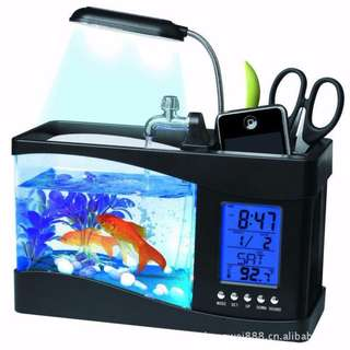 Usb desktop fish tank