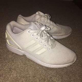 Adidas White Flux Size 6.5