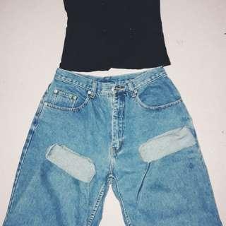 🌻Bundle 🌻Mom highwaist jeans and corset top♥️♥️