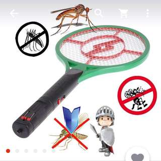 Rechargeable Mosquito-Hitting Swatter Zapper Killer Racket (Small)