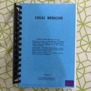 Legal Medicine and Study Guide in Medical Parasitology (College of Public health, University of Philippines-Manila)